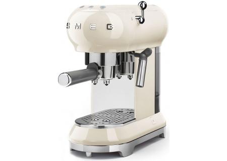 Smeg 50s Retro Style Cream Espresso Machine - ECF01CRUS