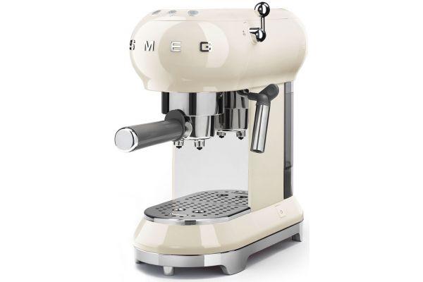 Large image of Smeg 50s Retro Style Cream Espresso Machine - ECF01CRUS - ECF01CRUS