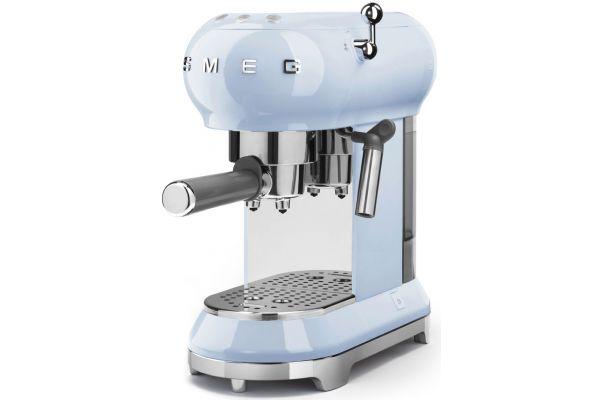 Smeg 50s Retro Style Pastel Blue Espresso Machine - ECF01PBUS