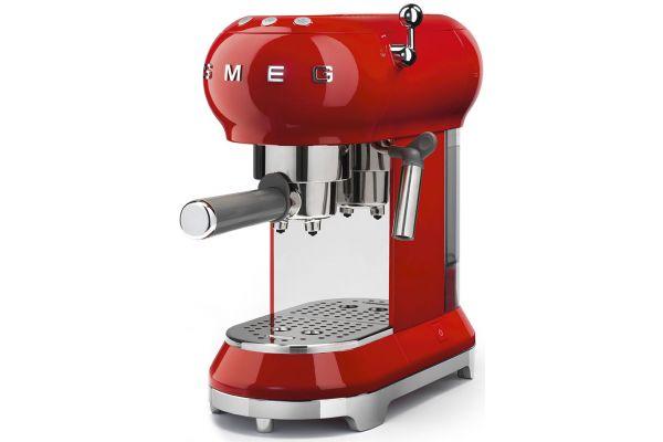 Smeg 50s Retro Style Red Espresso Machine - ECF01RDUS