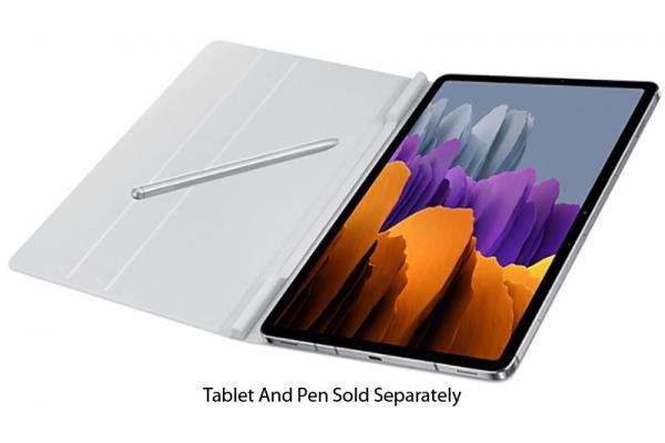 Large image of Samsung Galaxy Tab S7 Gray Bookcover - EF-BT870PJEGUJ