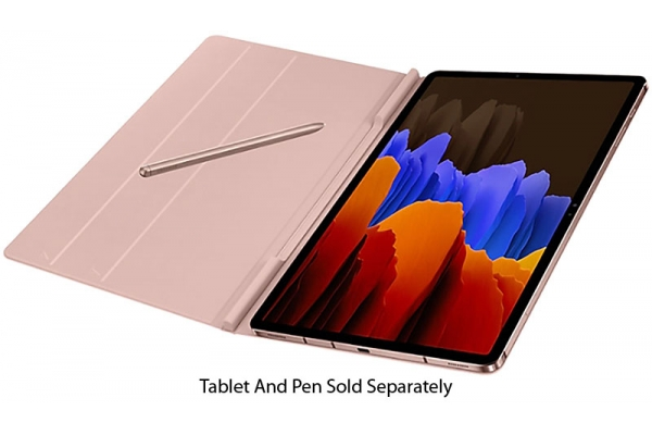 Large image of Samsung Galaxy Tab S7+ Mystic Bronze Bookcover - EF-BT970PAEGUJ
