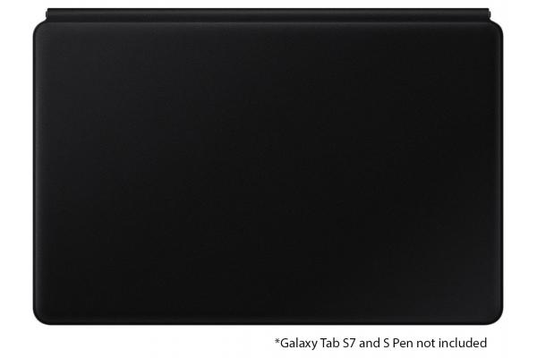 Large image of Samsung Galaxy Tab S7 Black Book Cover Keyboard - EF-DT870UBEGUJ