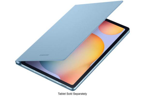 Large image of Samsung Galaxy Tab S6 Lite Angora Blue Book Cover Keyboard - EF-BP610PLEGUJ