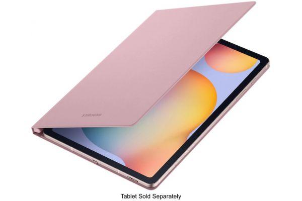 Large image of Samsung Galaxy Tab S6 Lite Chiffon Rose Book Cover Keyboard - EF-BP610PPEGUJ