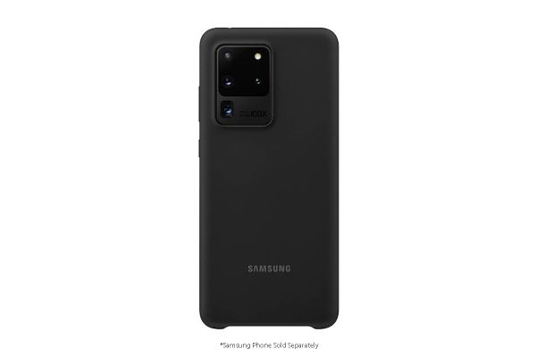 Large image of Samsung Black Silicone Cover For Galaxy S20 Ultra 5G - EF-PG988TBEGUS