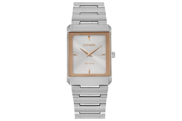 Large image of Citizen Eco-Drive Stiletto Stainless Steel Unisex Watch - EG601658A