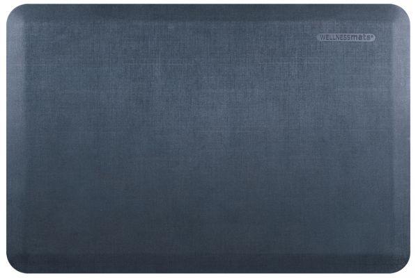 Large image of WellnessMats Linen Collection 3x2 Lagoon Mat - EL32WMRBGRY