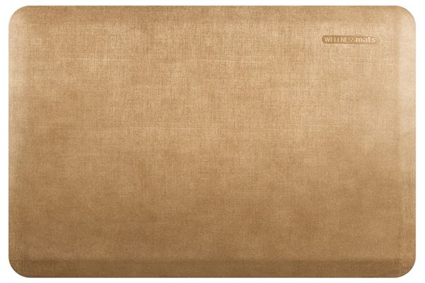 WellnessMats Linen Collection 3x2 Aztec Gold Mat - EL32WMRBGTAN