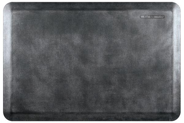 Large image of WellnessMats Linen Collection 3x2 Onyx Mat - EL32WMRBNBLK