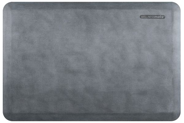 WellnessMats Linen Collection 3x2 Beach Glass Mat - EL32WMRWGRY