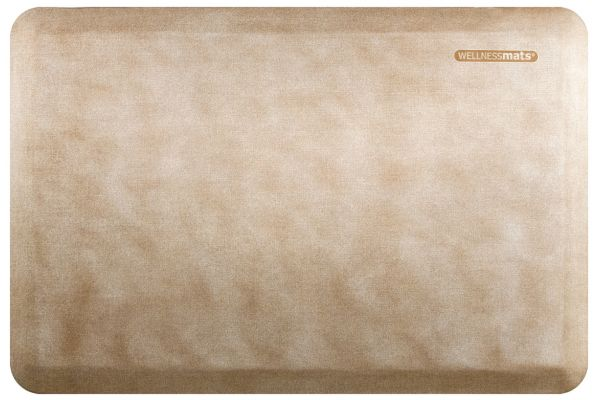 Large image of WellnessMats Linen Collection 3x2 Sand Dollar Mat - EL32WMRWTAN