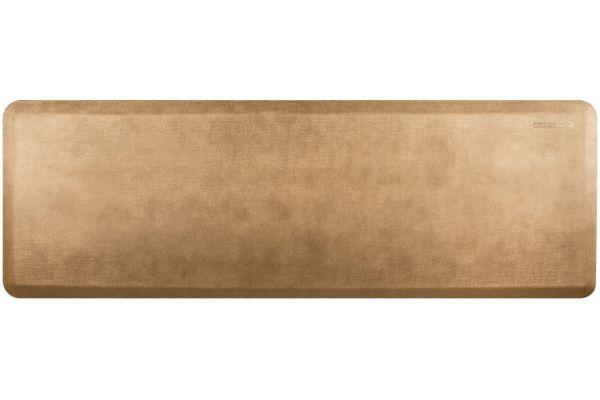 Large image of WellnessMats Linen Collection 6x2 Aztec Gold Mat - EL62WMRBGTAN