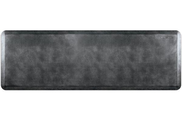 Large image of WellnessMats Linen Collection 6x2 Onyx Mat - EL62WMRBNBLK