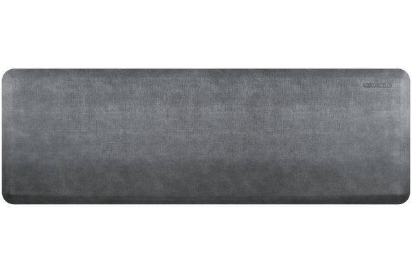 Large image of WellnessMats Linen Collection 6x2 Slate Mat - EL62WMRBNGRY