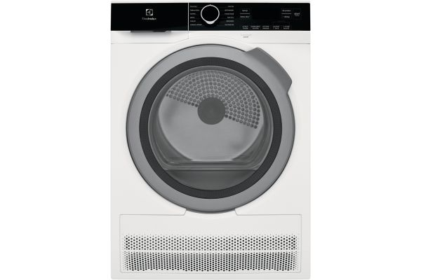 Large image of Electrolux White Electric Compact Steam Dryer - ELFE4222AW