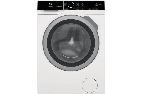 Large image of Electrolux White Compact Front Load Steam Washer - ELFW4222AW