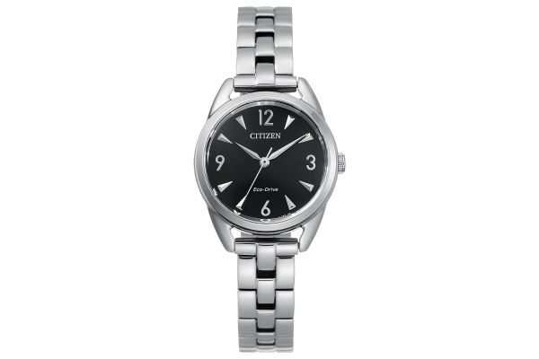 Large image of Citizen Eco-Drive 27mm Silver Womens Watch - EM068070E