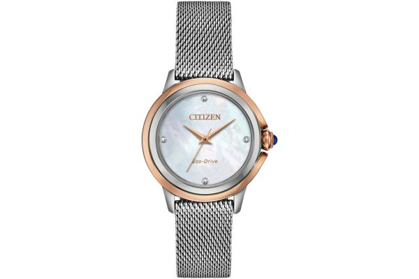 Large image of Citizen Ceci Two-Tone Stainless Steel Womens Watch - EM079659Y