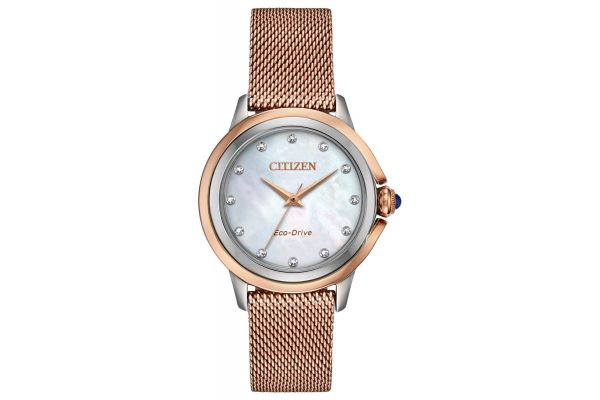 Large image of Citizen Ceci Rose-Tone Stainless Steel Womens Watch - EM079675D