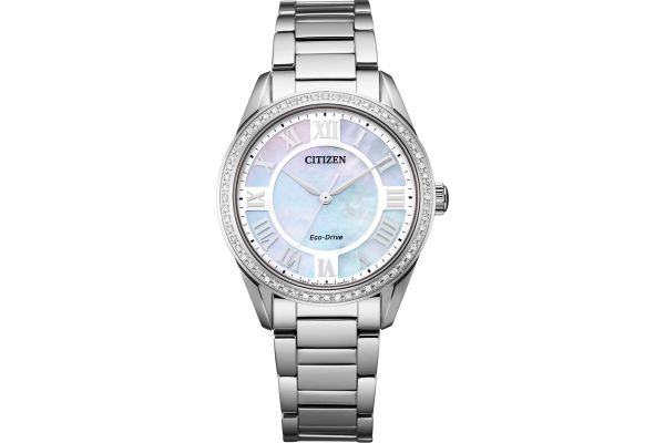 Large image of Citizen Arezzo 32mm Stainless Steel Womens Watch - EM088054D