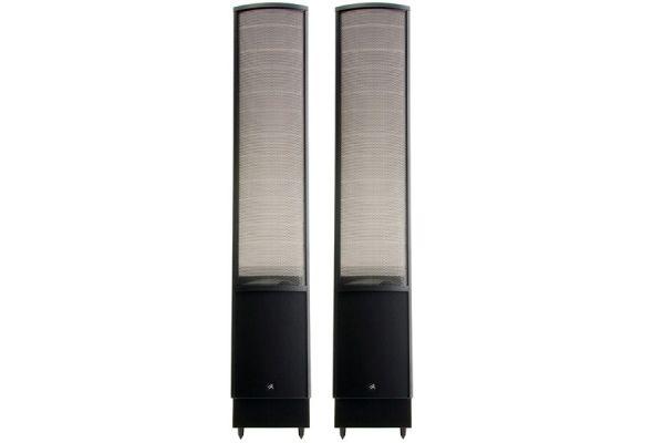 "Large image of MartinLogan Satin Black ElectroMotion Dual 8"" Passive 2-Way Floorstanding Speakers (Pair) - EMESLXBK"