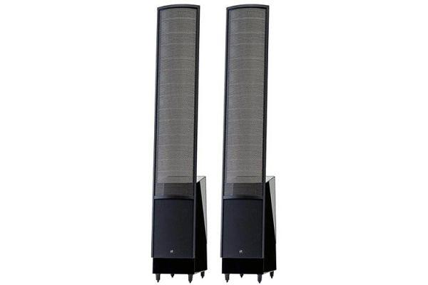 "Large image of MartinLogan High Gloss Black ElectroMotion Dual 8"" Passive 2-Way Floorstanding Speakers (Pair) - EMESLXHGBK"