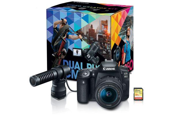 Large image of Canon EOS 90D DSLR Camera Video Creator Kit - 3616C074