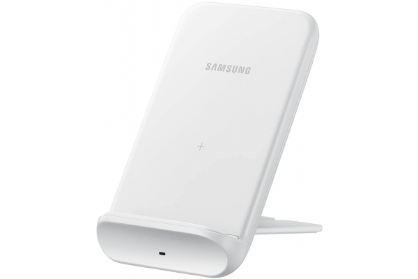 Large image of Samsung 9W Fast Charge White Wireless Charging Stand - EP-N3300TWEGUS