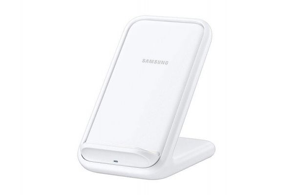 Large image of Samsung 15W Fast Charge White Wireless Charging Stand - EP-N5200TWEGUS