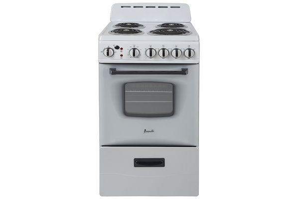 "Large image of Avanti 20"" White Freestanding Electric Range - ERU200P0W"