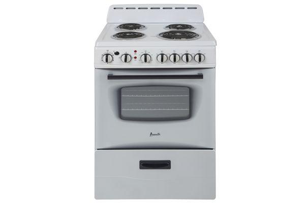 """Avanti 24"""" White Freestanding Electric Range - ERU240P0W"""