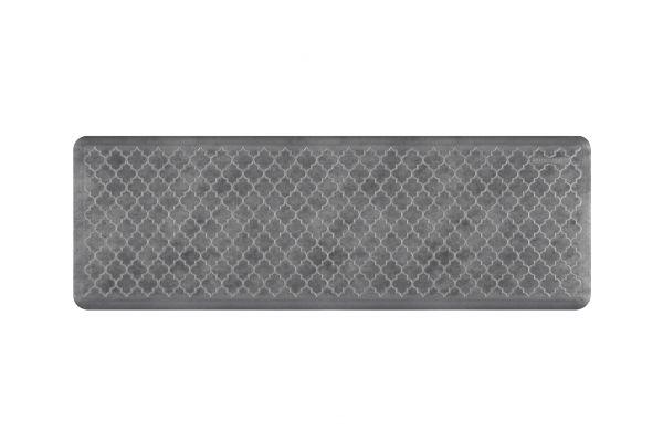 WellnessMats Trellis Collection 6x2 Slate Mat - ET62WMRBNGRY