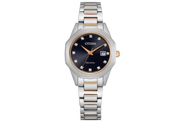 Large image of Citizen 28mm Corso Two-Tone Stainless Steel Womens Watch - EW258658E