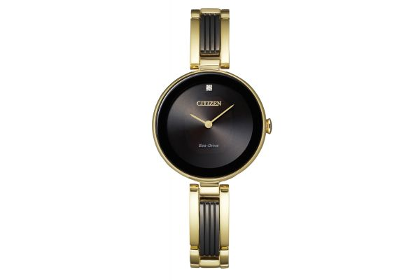 Large image of Citizen Axiom 28mm Two-Tone Gold Tone Womens Watch - EX153957E