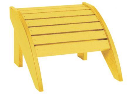 C.R. Plastic Products F01 Yellow Footstool - F01-04