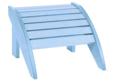 C.R. Plastic Products F01 Sky Blue Footstool - F01-12