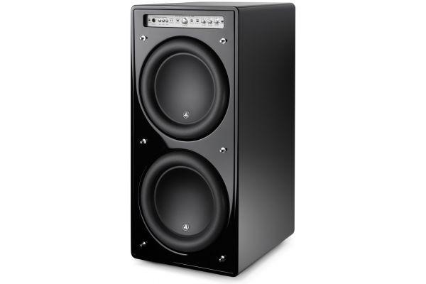 "Large image of JL Audio 12"" Fathom Black Gloss Dual Powered Subwoofer - 96143"