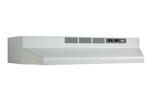 "Large image of Broan Economy 40000 30"" White Range Wall Hood - F403001"