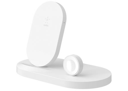 Belkin BoostUp Wireless White Charging Dock for Apple Watch + iPhone - F8J235TTWHT