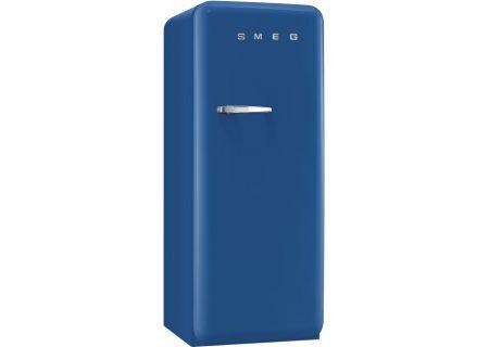 Smeg 50s Retro Style Aesthetic Right Hinge Blue Refrigerator - FAB28UBER1