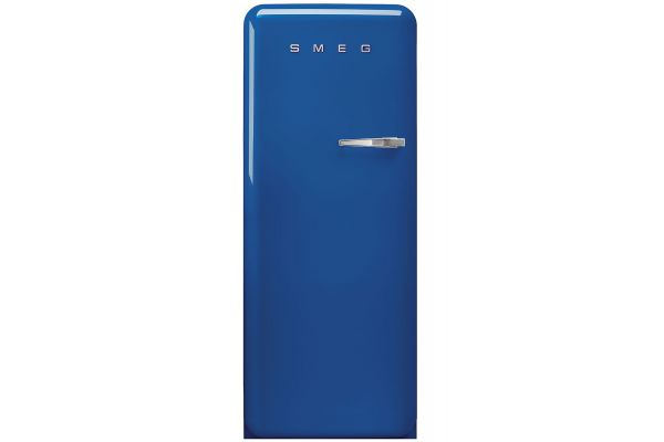 Large image of Smeg 50's Retro Style Aesthetic Left-Hinge Blue Refrigerator - FAB28ULBE3