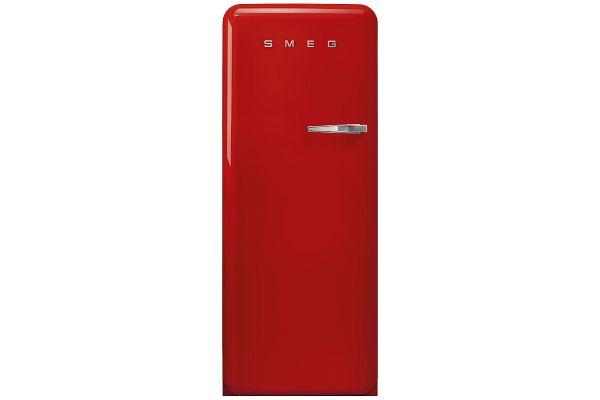Large image of Smeg 50's Retro Style Aesthetic Left-Hinge Red Refrigerator - FAB28ULRD3