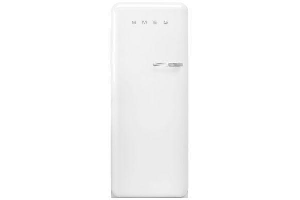 Large image of Smeg 50's Retro Style Aesthetic Left-Hinge White Refrigerator - FAB28ULWH3