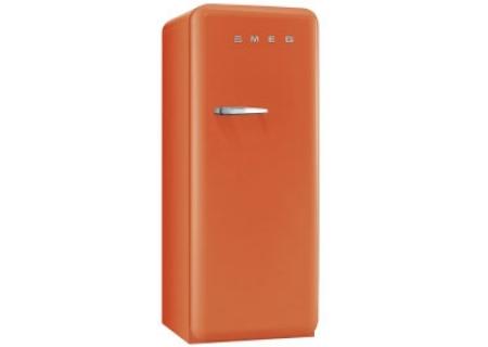 Smeg 50s  Retro Style Aesthetic Right Hinge Orange Refrigerator  - FAB28UORR1