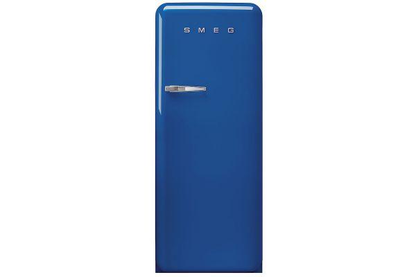 Large image of Smeg 50's Retro Style Aesthetic Right-Hinge Blue Refrigerator - FAB28URBE3