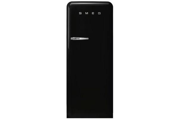 Large image of Smeg 50's Retro Style Aesthetic Right-Hinge Black Refrigerator - FAB28URBL3