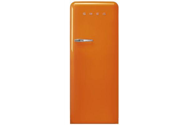 Large image of Smeg 50's Retro Style Aesthetic Right-Hinge Orange Refrigerator - FAB28UROR3