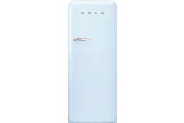 Large image of Smeg 50's Retro Style Aesthetic Right-Hinge Pastel Blue Refrigerator - FAB28URPB3