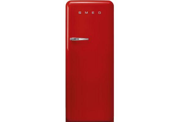 Large image of Smeg 50's Retro Style Aesthetic Right-Hinge Red Refrigerator - FAB28URRD3